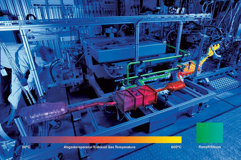 Hitzefrei: Wärme aus dem Abgas trägt dazu bei, die Effizienz zu steigern