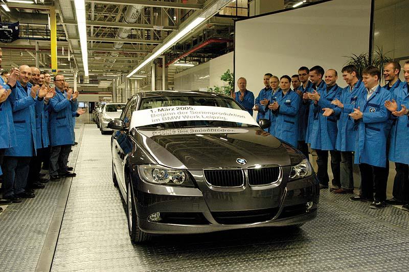 Start der Serienproduktion im BMW Werk Leipzig. Der erste 3er BMW läuft im Jahr 2005 vom Band.