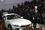 BMW Chef Panke bei der Weltpremiere des Z4 Coupés auf der IAA