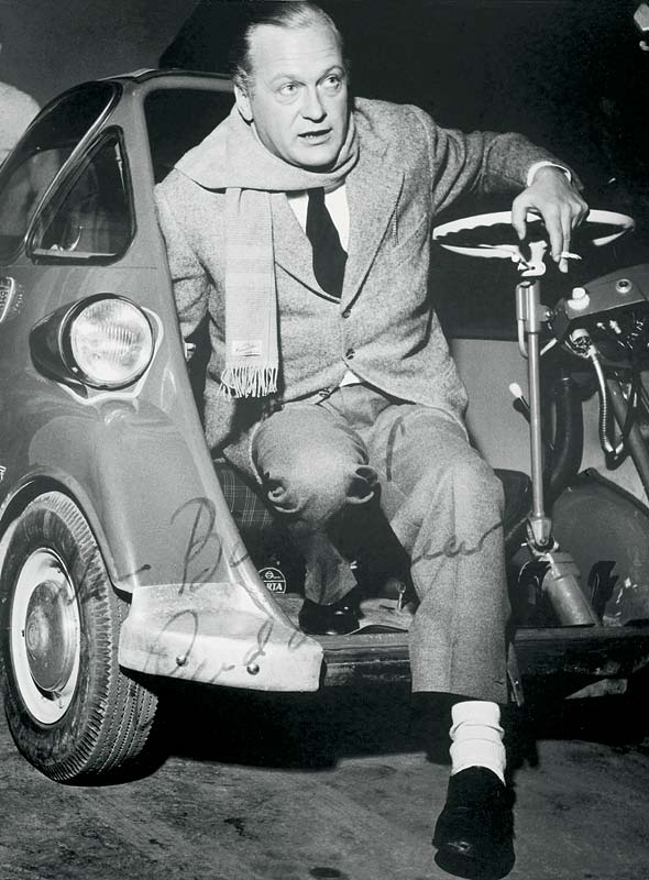 Curd Jürgens und die BMW Isetta