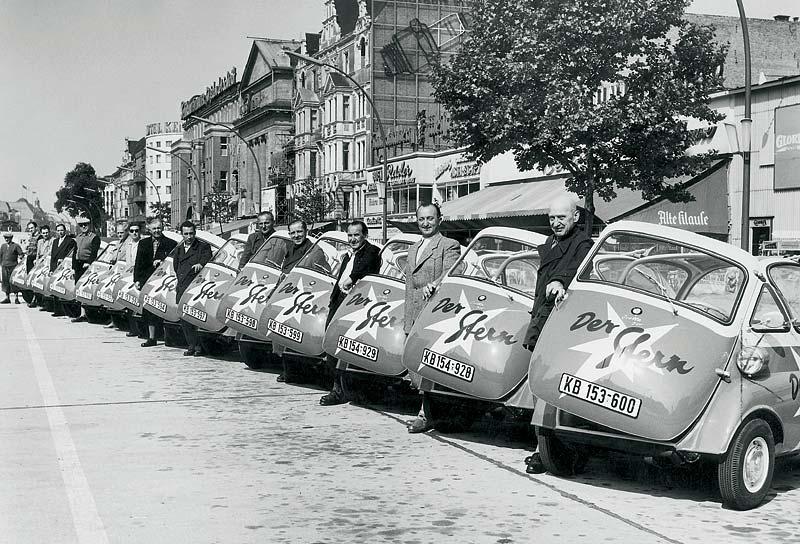 BMW Isetta als Werbeträger