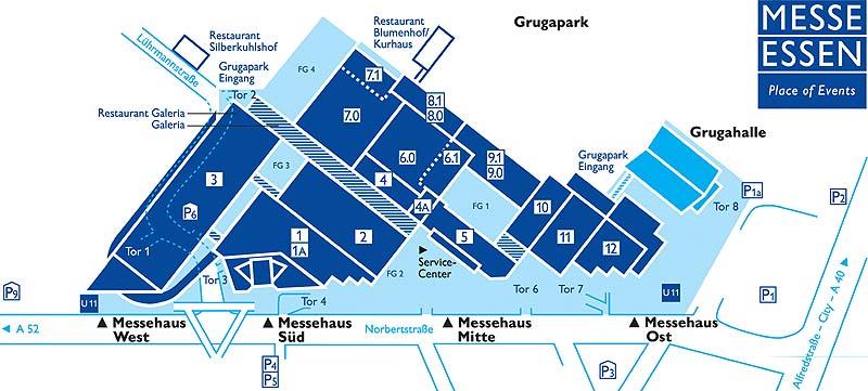 Hallenplan Messe Essen