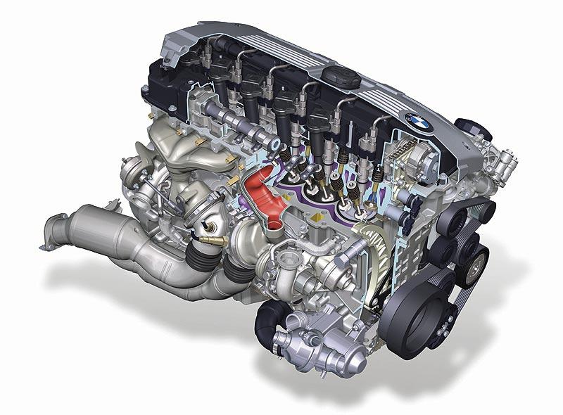 6-Zylinder Motor, Schnitt N54