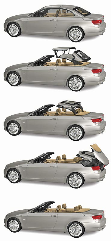 foto versenkbares hardtop im bmw 3er cabrio vergr ert. Black Bedroom Furniture Sets. Home Design Ideas