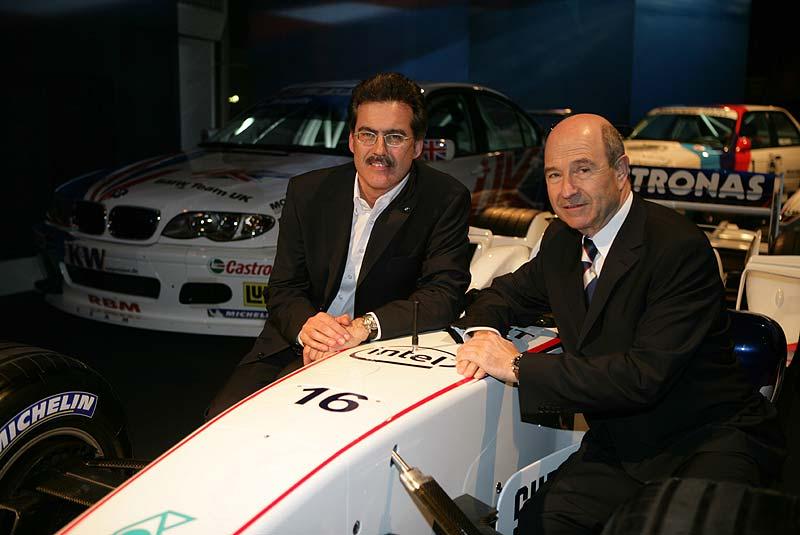 Dr. Mario Theissen (BMW Motorsport Direktor) mit Peter Sauber