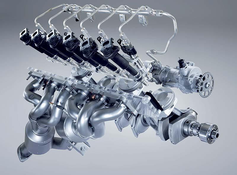 BMW Reihensechszylinder Ottomotor mit High Precision Injection (strahlgeführte Mager-Direkt-Einspritzung der zweiten Generation)
