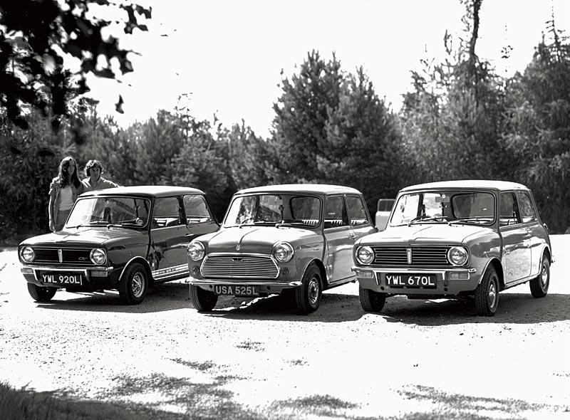 Mini 1275 GT, Mini 1000 und Mini Clubman, 1973