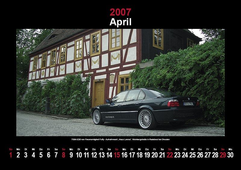 7-forum.com Wandkalender 2007: April
