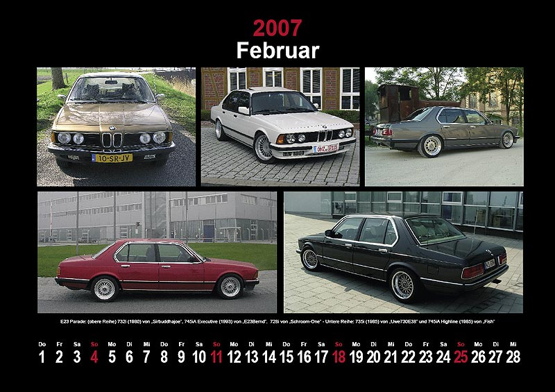 7-forum.com Wandkalender 2007: Februar