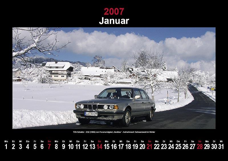 7-forum.com Wandkalender 2007: Januar