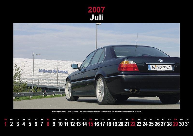 7-forum.com Wandkalender 2007: Juli