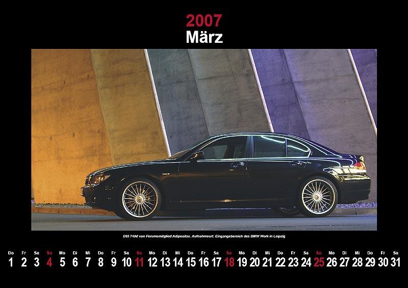 7-forum.com Wandkalender 2007: März