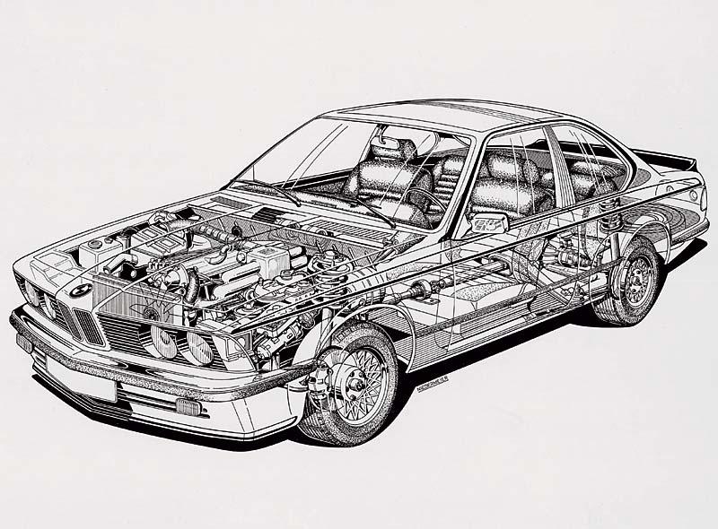 BMW 6er (E24), Röntgenbild