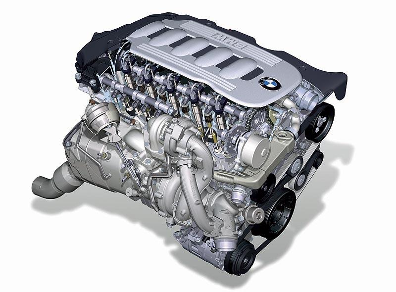 "BMW 6-Zylinder-Dieselmotor mit Aluminium-Kurbelgehäuse und ""Variable Twin Turbo""-Technologie"