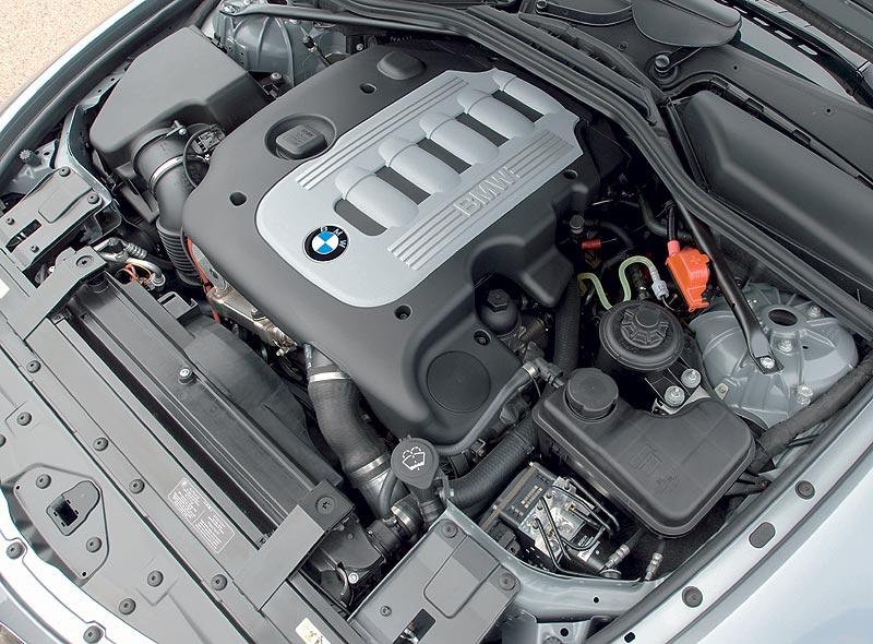 BMW 635d, Motorraum