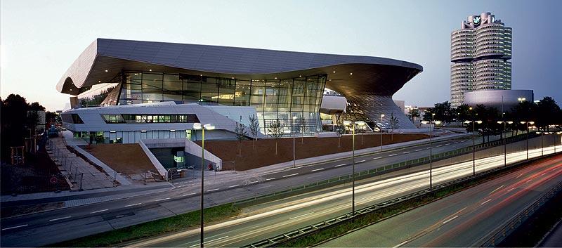 BMW Welt Baustelle, Bild aus Juli 2007, Ansicht Süd: BMW Welt, Museum und Hochhaus