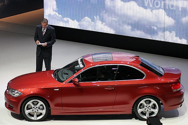 Dr. Draeger, BMW Vorstandsmitglied, stellte das neue 1er Coupé von BMW vor