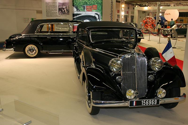 Horch 830 BL, Baujahre 1935-1940, V8-Motor, 3.492 cccm, 82 PS, vmax: 120 km/h, Produktion: 6.122 Stk., 4türiges Cabriolet