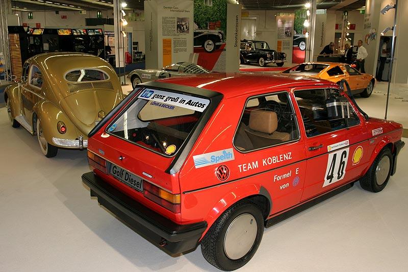 VW Golf D Formel E, Baujahr 1981, 4-Zyl.-Dieselmotor, 1.588 cccm, 54 PS, vmax: 145 km/h, Rekord: 2,01 l Verbrauch auf 100 km