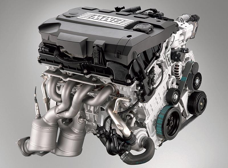 BMW 4-Zylinder-Ottomotor mit strahlgeführter Direkteinspritzung mit Magerbetrieb (BMW High Precision Injection)