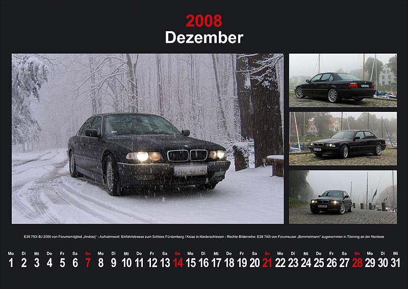 7-forum.com Wandkalender 2008, Motiv Dezember