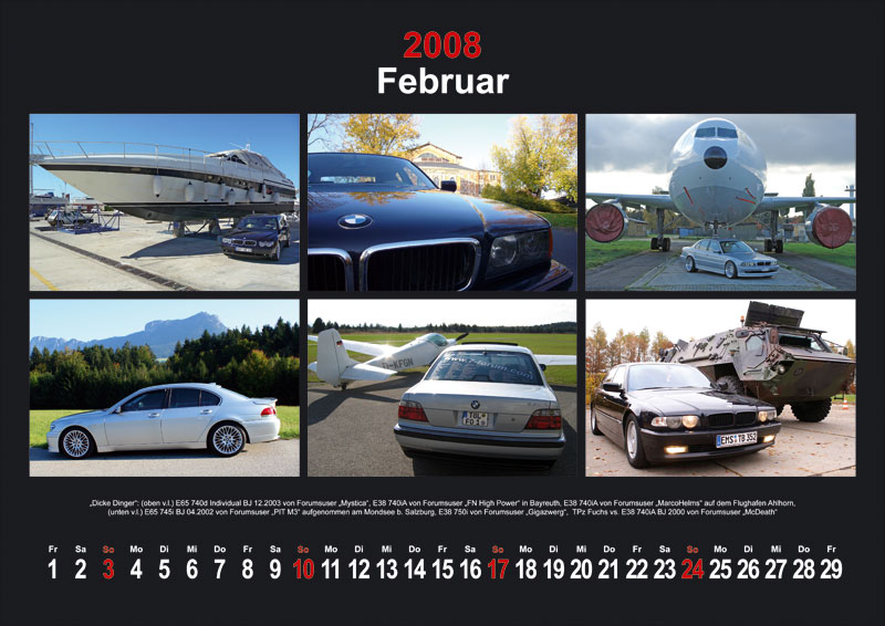 7-forum.com Wandkalender 2008, Motiv Februar