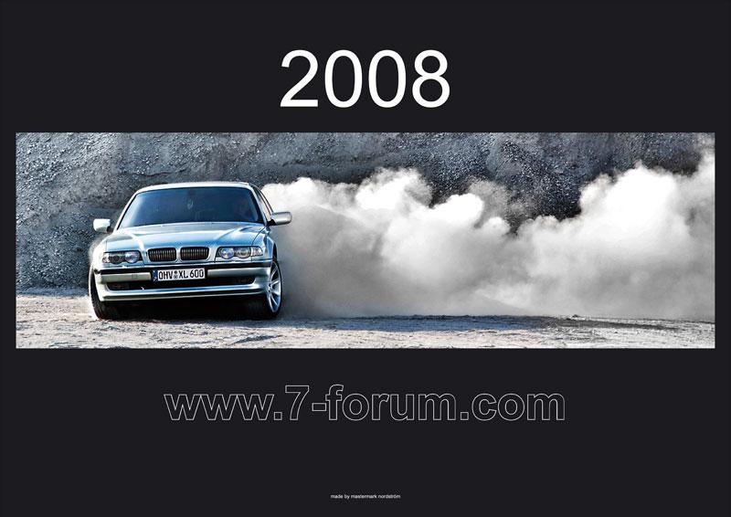Titelbild des 7-forum.com Jahres-Wandkalenders 2008