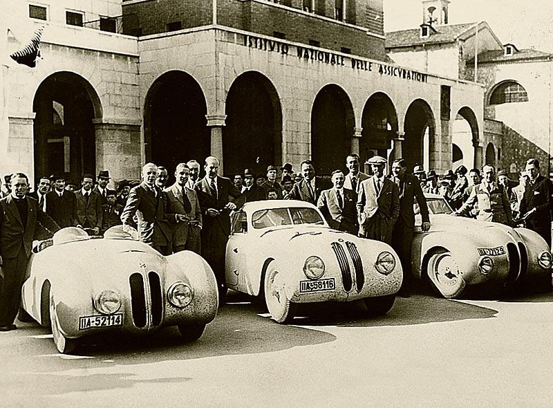Stationen der Entwicklung: 1940: BMW 328 MM Coupé - Gesamtsieger bei der Mille Miglia