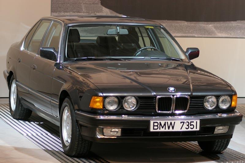 BMW 735i aus dem Jahr 1987, Stückzahl: 108.728, ehem. Neupreis: 72.570 DM