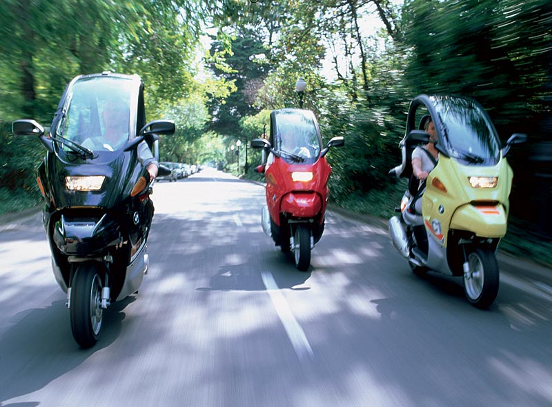 BMW C1 Executive, BMW C1, BMW Familys friend (von links nach rechts)