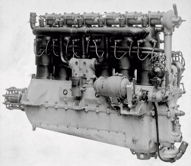 Flugmotor BMW IIIa, erster BMW Motor, 1917