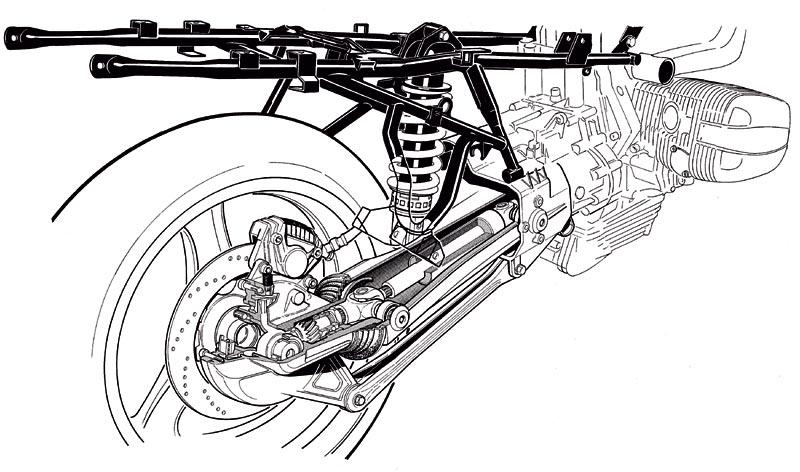 BMW Hinterachse, Paralever, Zeichnung, 1933