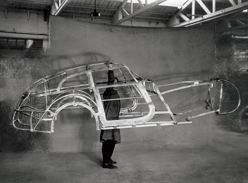 """Leichtbau-Gitterohrrahmen der 328 """"Mille Miglia"""" Kamm Rennlimousine, 1939"""