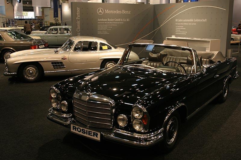 Mercedes Benz Classic Partner Rosier mit einem S-Klasse-Cabrio