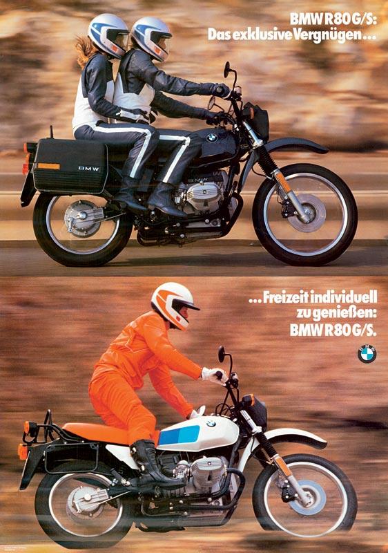 """Plakat """"BMW R 80 G/S - das exklusive Vergnügen..."""", 1980"""