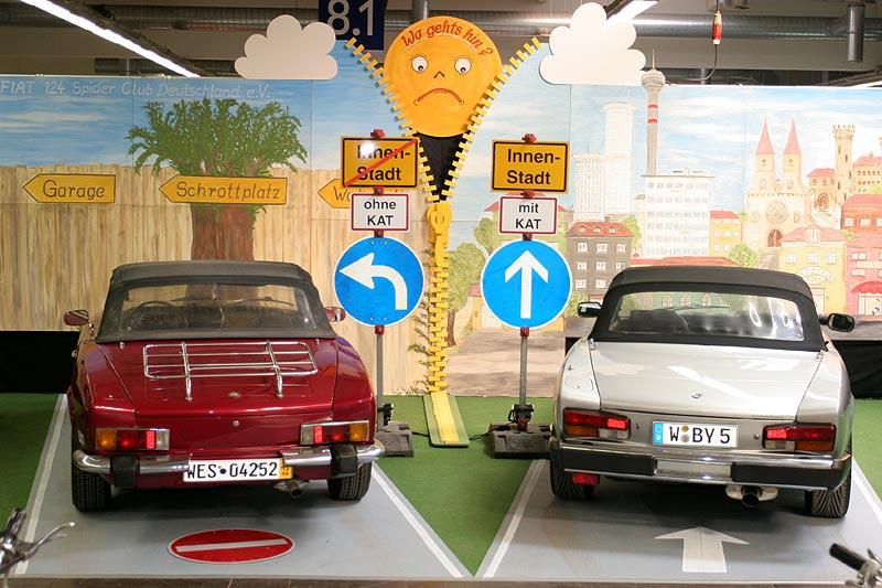 ein Fiat-Club nahm das Thema Umweltschutz und Oldies auf