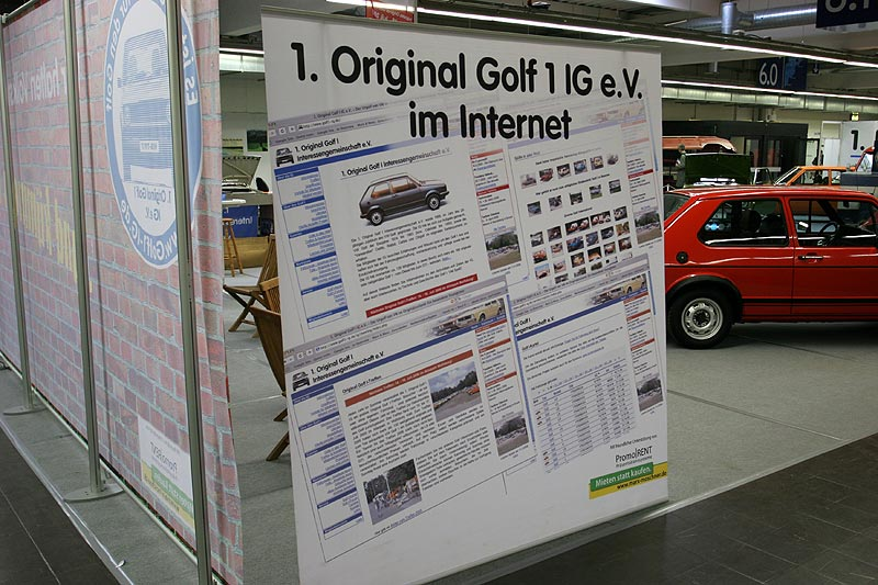 Messestand der 1. Golf IG e.V.