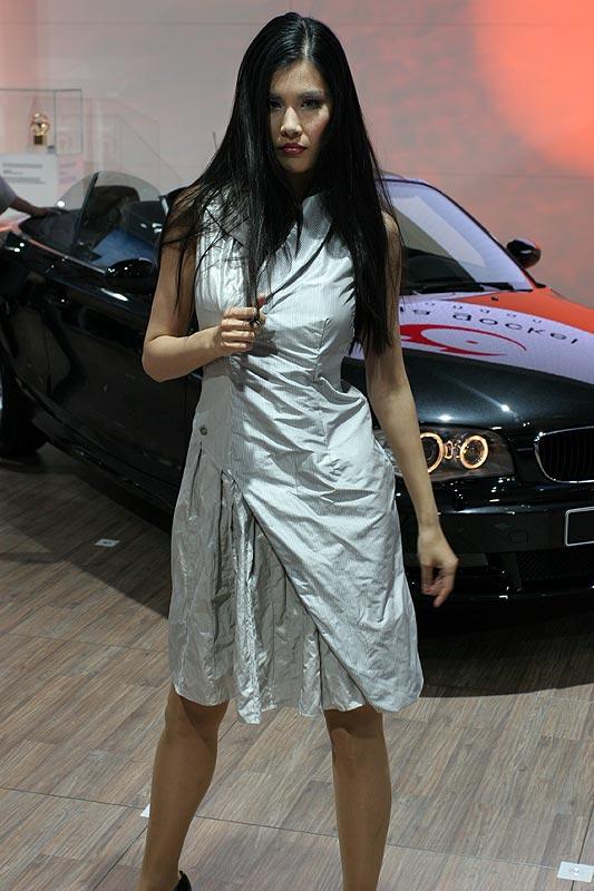 Anja Gockel Modenschau auf dem BMW-Messestand im Rahmen der AMI 2008