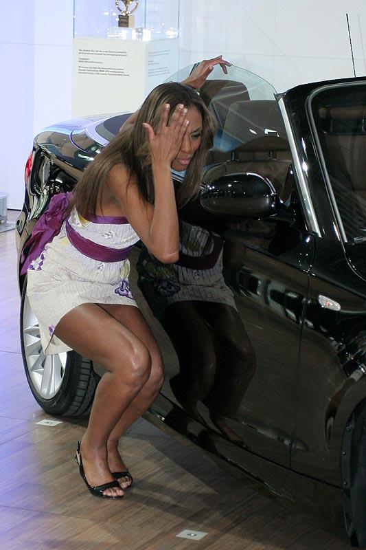 Am Abend vor der offiziellen Eröffnung der AMI wurde das 1er Cabrio exklusiv präsentiert