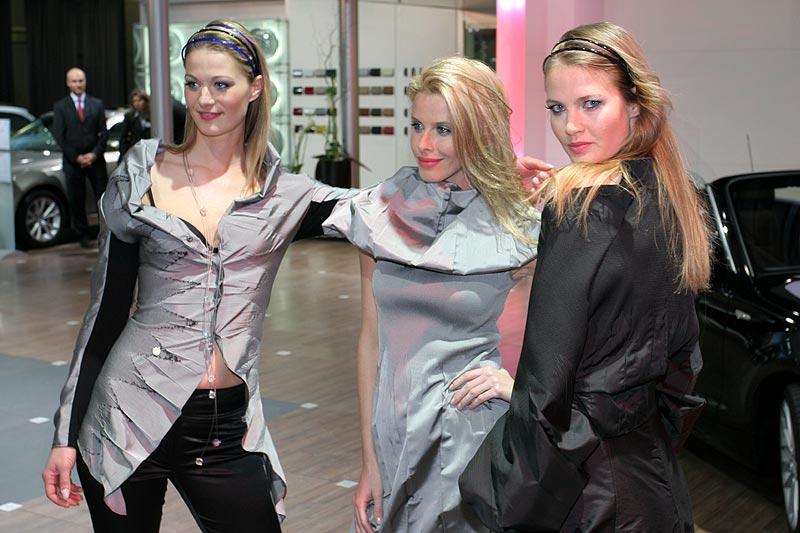 Zum Abendprogramm gehörte eine Modenschau der Designerin Anja Gockel