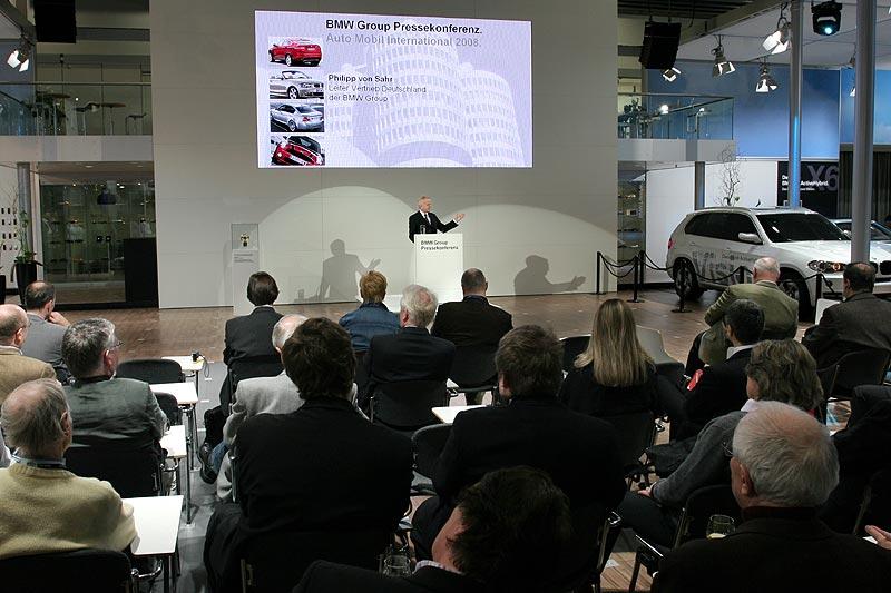 Philipp von Sahr bei der BMW Presse-Konferenz auf der AMI 2008 in Leipzig