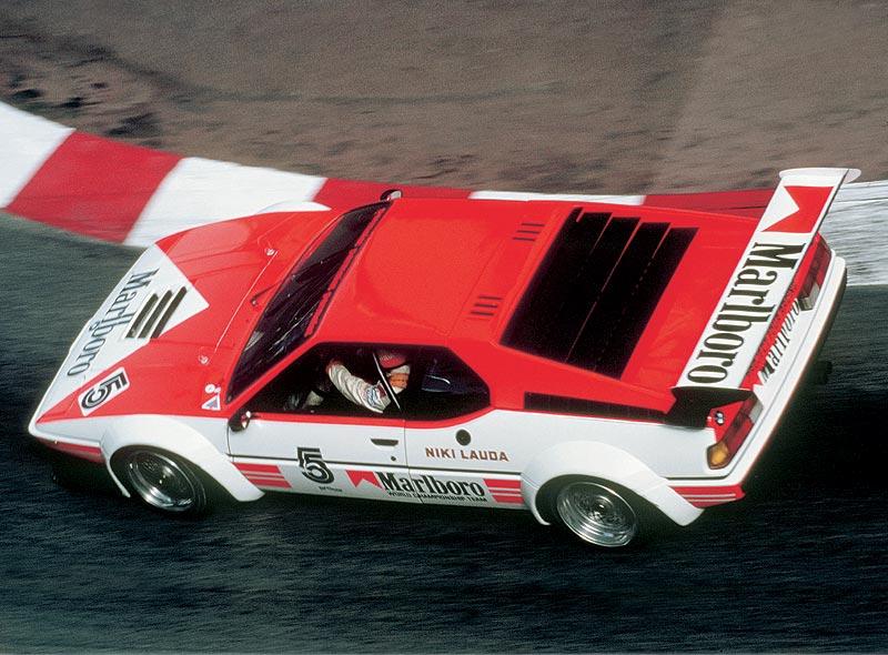 Niki Lauda im BMW M1 ProCar