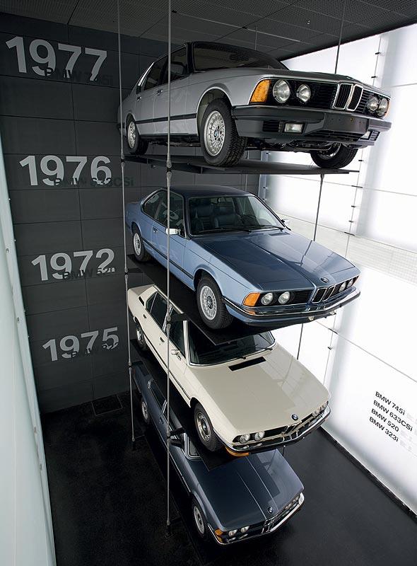 Baureihenturm im BMW Museum München
