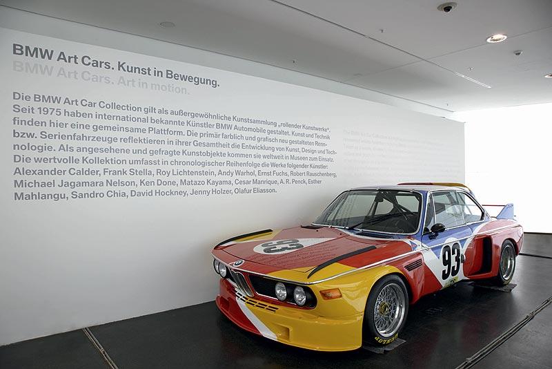 BMW 3,0 CSL Art Car von Alexander Calder im BMW Museum München