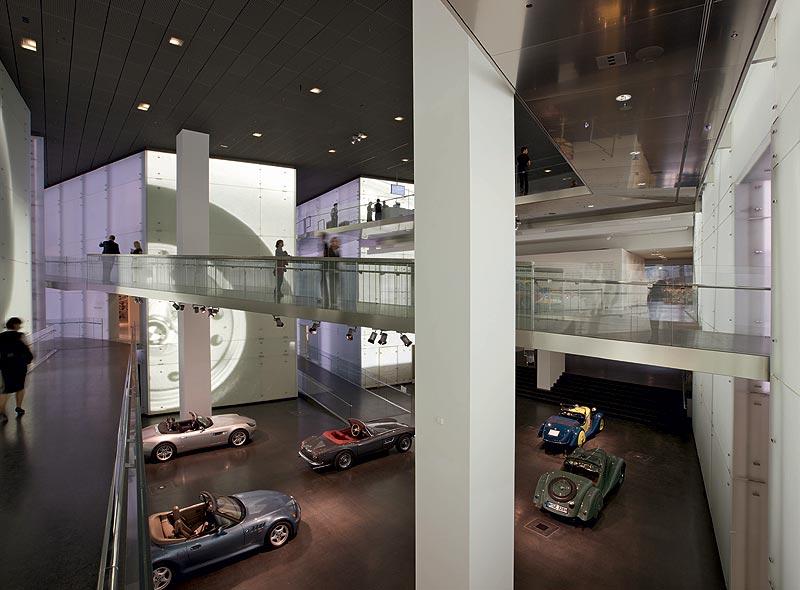 BMW Roadster im Central Space im BMW Museum München
