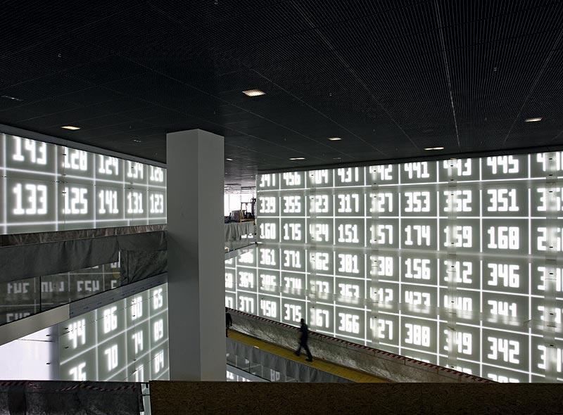 BMW Museum München - Testbestpielung der LED Wände im Central Space