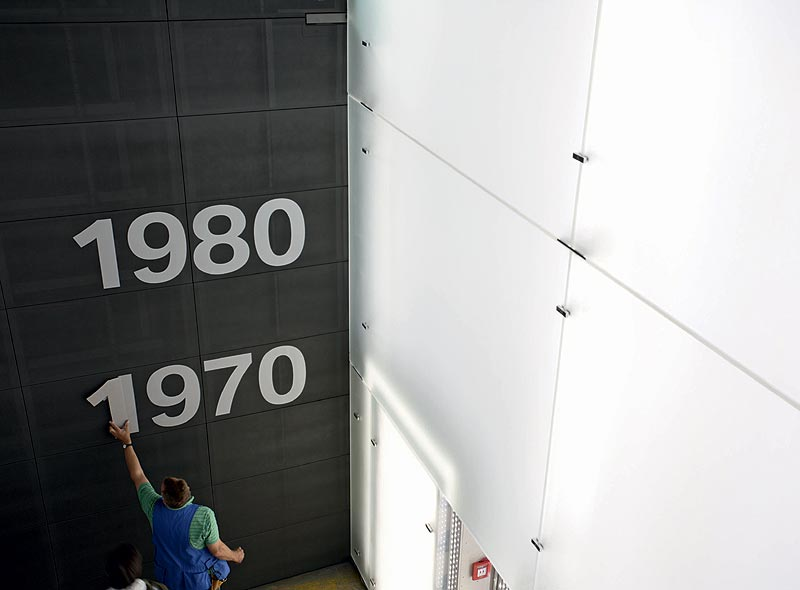 Innenarbeiten am BMW Museum München