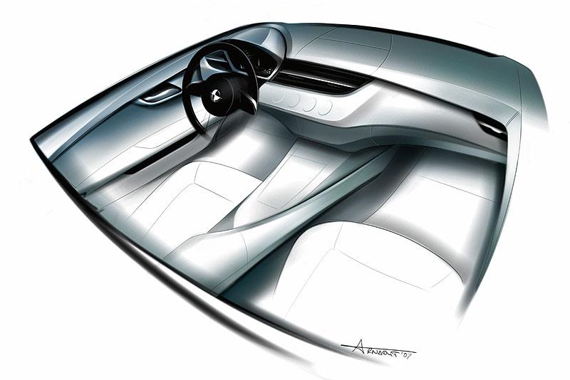 BMW Z4 Roadster, Designskizze Nadya Arnaout (Design Interieur BMW Z4)