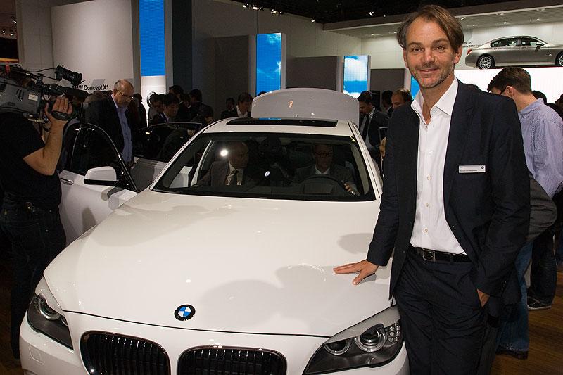 Adrian van Hooydonk, Leiter Design, BMW Automobile war zur Premiere auch vor Ort in Paris