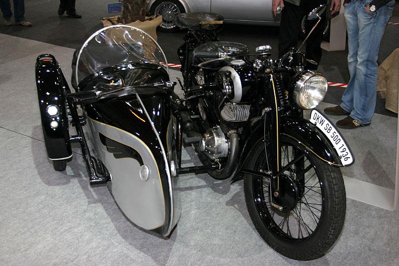 DKW SB 500 mit Stoye Beiwagen, Bj. 1936, 493,9 cccm, 15 PS, 120 km/h